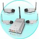 4X BNC Wireless Audio Camera + AV Receiver - 50 Meter Range New