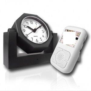 Covert Wireless Spy Camera Alarm Clock + Receive w/LCD New