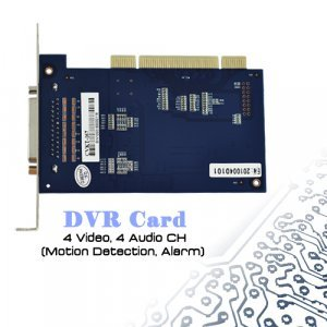 DVR Card - 4 Video and 4 Audio CH (Motion Detection, Alarm) New