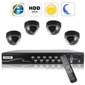 Security Camera DVR Kit (4 Surveillance Camera + Recorder Set C) New