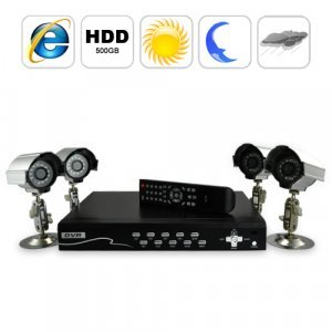 Security Camera DVR Kit (4 Surveillance Camera + Recorder Set B) New