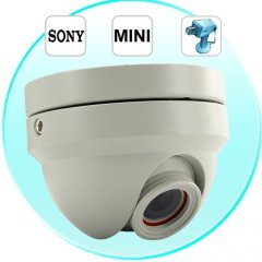 Mini Dome Camera - Vandal Proof, Night Vision, SONY SuperHAD CCD New