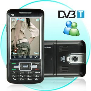 Touchscreen Dual SIM Dual Band GSM Cellphone + MSN and DVB-T New