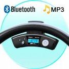 Car Steering Wheel Bluetooth Adapter + Wireless Earpiece New