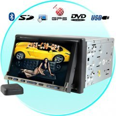Flux Capacitor 7 Inch Dual Zone Car DVD System (GPS) New