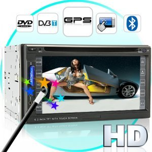 Road King 6.2 Inch High-Def Car DVD Player with GPS and DVB-T New