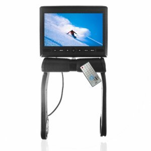 7 Inch TFT LCD Armrest Monitor With Built In DVD Player -Black New