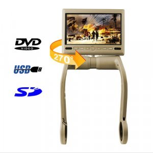 7 Inch TFT LCD Armrest Monitor With Built In DVD Player - Tan New