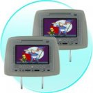 Headrest DVD Player and NES Emulator- 7 Inch LCD -Pair -Grey New