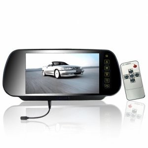 7 Inch Rearview Mirror Monitor - Bluetooth + Touch Button New
