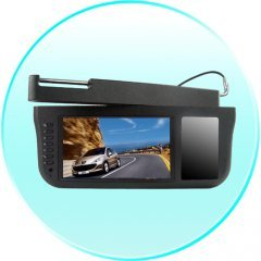 7 Inch Sun Visor TFT LCD Monitor - 360 Degree Swiveling -Black New