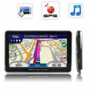 5 Inch Touchscreen Handheld GPS Navigator w/FM Transmitter (4GB) New