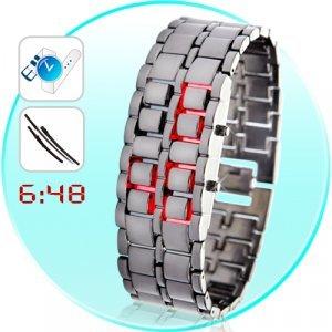 Iron Samurai - Japanese Inspired Red LED Watch New
