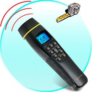 Laser Sighted Ultrasonic Range Finder New