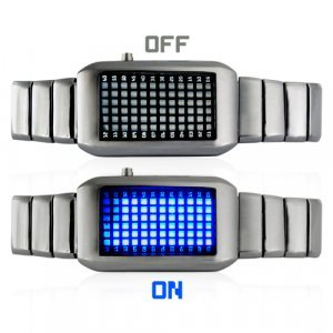 The One Kelvin - Japanese Style Mid-Sized Blue LED Watch New