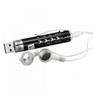 MP3 Gadget Pen + Spy Device - 2GB Flash Disk Design New