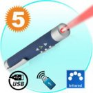 Laser Pointer + Wireless Receiver (Page Control Edition) New