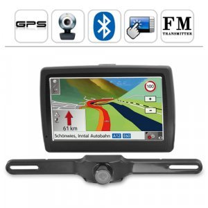 5 Inch Touchscreen GPS w/FM Transmitter and Bluetooth + Camera New