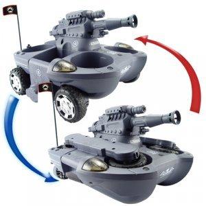 Radio Control Amphibious Transformer Toy RC Tank (220V) New
