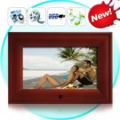 7 Inch Wooden Digital Photo Frame and Media Player