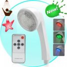 LED Color Changing Shower Head with Remote (White)