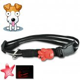 LED Dog Collar (Red, Water Resistant, Ultra Durable)