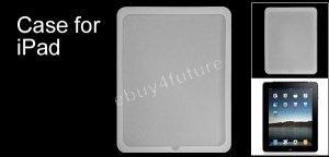 New Premium White Silicone Skin Case Back Cover Protector for Apple iPad Wifi 3G 16GB 32GB 64GB