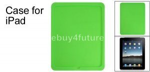 New Premium Green Silicone Skin Case Back Cover Protector for Apple iPad Wifi 3G 16GB 32GB 64GB