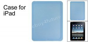New Premium Light Blue Silicone Skin Case Back Cover Protector for Apple iPad Wifi 3G 16GB 32GB 64GB