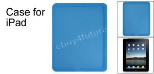 New Premium Sky Blue Silicone Skin Case Back Cover Protector for Apple iPad Wifi 3G 16GB 32GB 64GB