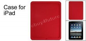 New Premium Red Silicone Skin Case Back Cover Protector for Apple iPad Wifi 3G 16GB 32GB 64GB