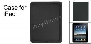 New Premium Black Silicone Skin Case Back Cover Protector for Apple iPad Wifi 3G 16GB 32GB 64GB
