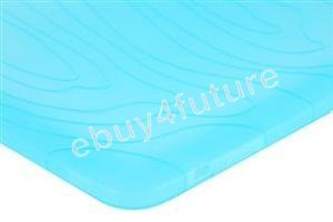 New Deluxe Ice Blue Silicone Skin Case Back Cover Protector for Apple iPad Wifi 3G 16GB 32GB 64GB