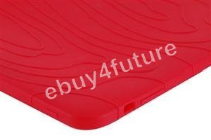 New Deluxe Red Silicone Skin Case Back Cover Protector for Apple iPad Wifi 3G 16GB 32GB 64GB