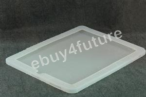 New Deluxe Clear White Silicone Skin Case Back Cover Protector for Apple iPad Wifi 3G 16GB 32GB 64GB