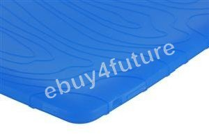 New Deluxe Blue Silicone Skin Case Back Cover Protector for Apple iPad Wifi 3G 16GB 32GB 64GB