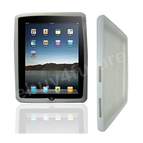 New Classic White Silicone Skin Case Back Cover Protector for Apple iPad Wifi 3G 16GB 32GB 64GB