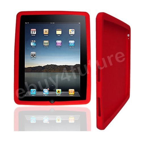 New Classic Red Silicone Skin Case Back Cover Protector for Apple iPad Wifi 3G 16GB 32GB 64GB