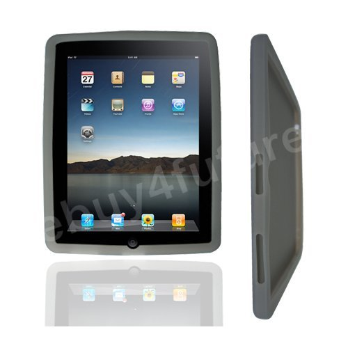 New Classic Gray Smoke Silicone Skin Case Back Cover Protector for Apple iPad Wifi 3G 16GB 32GB 64GB