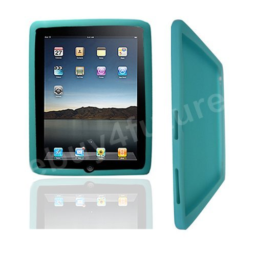 New Classic Light Blue Silicone Skin Case Back Cover Protector for Apple iPad Wifi 3G 16GB 32GB 64GB