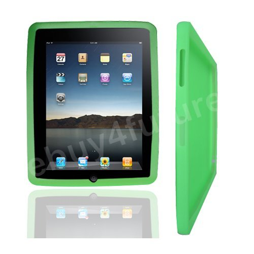 New Classic Green Silicone Skin Case Back Cover Protector for Apple iPad Wifi 3G 16GB 32GB 64GB