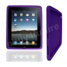 New Classic Purple Silicone Skin Case Back Cover Protector for Apple iPad Wifi 3G 16GB 32GB 64GB