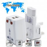 World Travel Adapter with Surge Protection + 2 USB Port