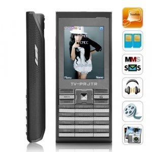 Titanium - Projector Phone Quadband Touchscreen Mobile Phone