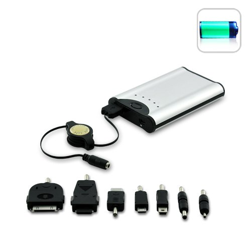 Portable Battery Charger with Power Level LED (3400mAh)