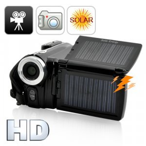 Solar Camcorder with Dual Charging Panels (720P HD)
