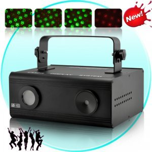 Double Laser DMX Projector with Sound Activation