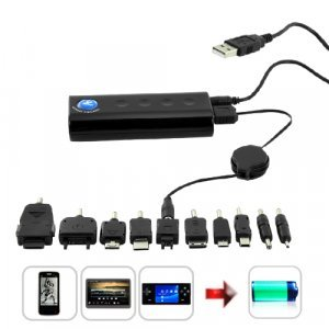 Portable Battery Charger with Power Level LED (4500mAh)