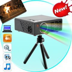 Media Nova - Portable Multimedia Projector (VGA, SD, A/V, USB)