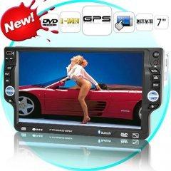 Piranha - 7 Inch Detachable Car DVD Player (1-DIN + GPS)